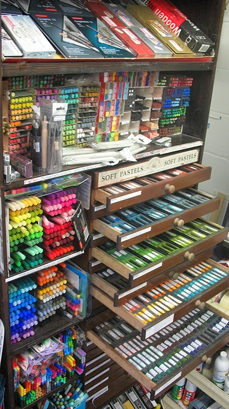 Large range of artists pastels
