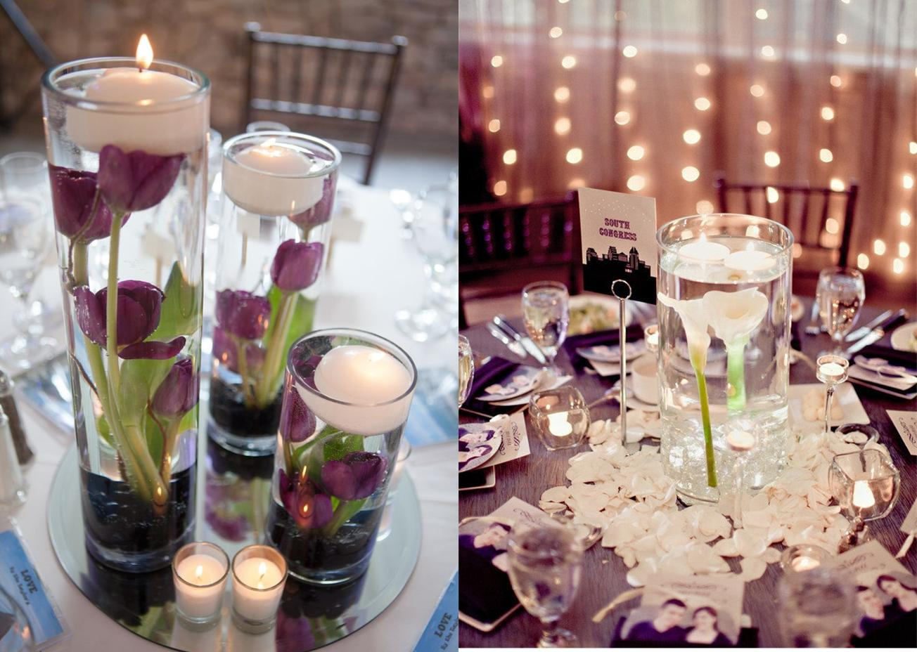 Details simple cylinder centerpieces