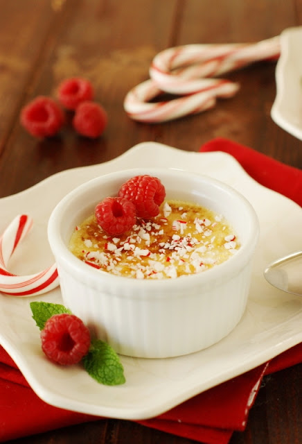 Peppermint-White Chocolate Creme Brulee ~ The Kitchen is My Playground