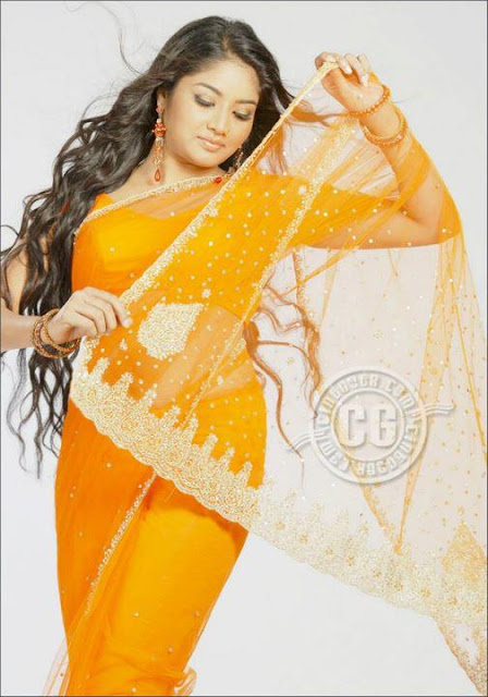 Tollywood long hair actress in saree