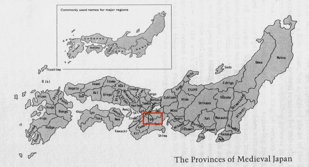 mapa medieval de japon