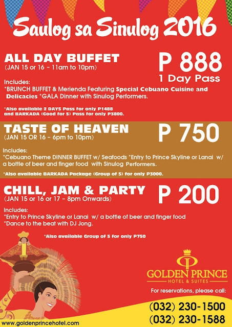 Taste of heaven buffet, Saulog sa SInulog 2016, Sinulog 2016, All Day Buffet, Golden Prince Hotel and Suites,  Jamie Herrell