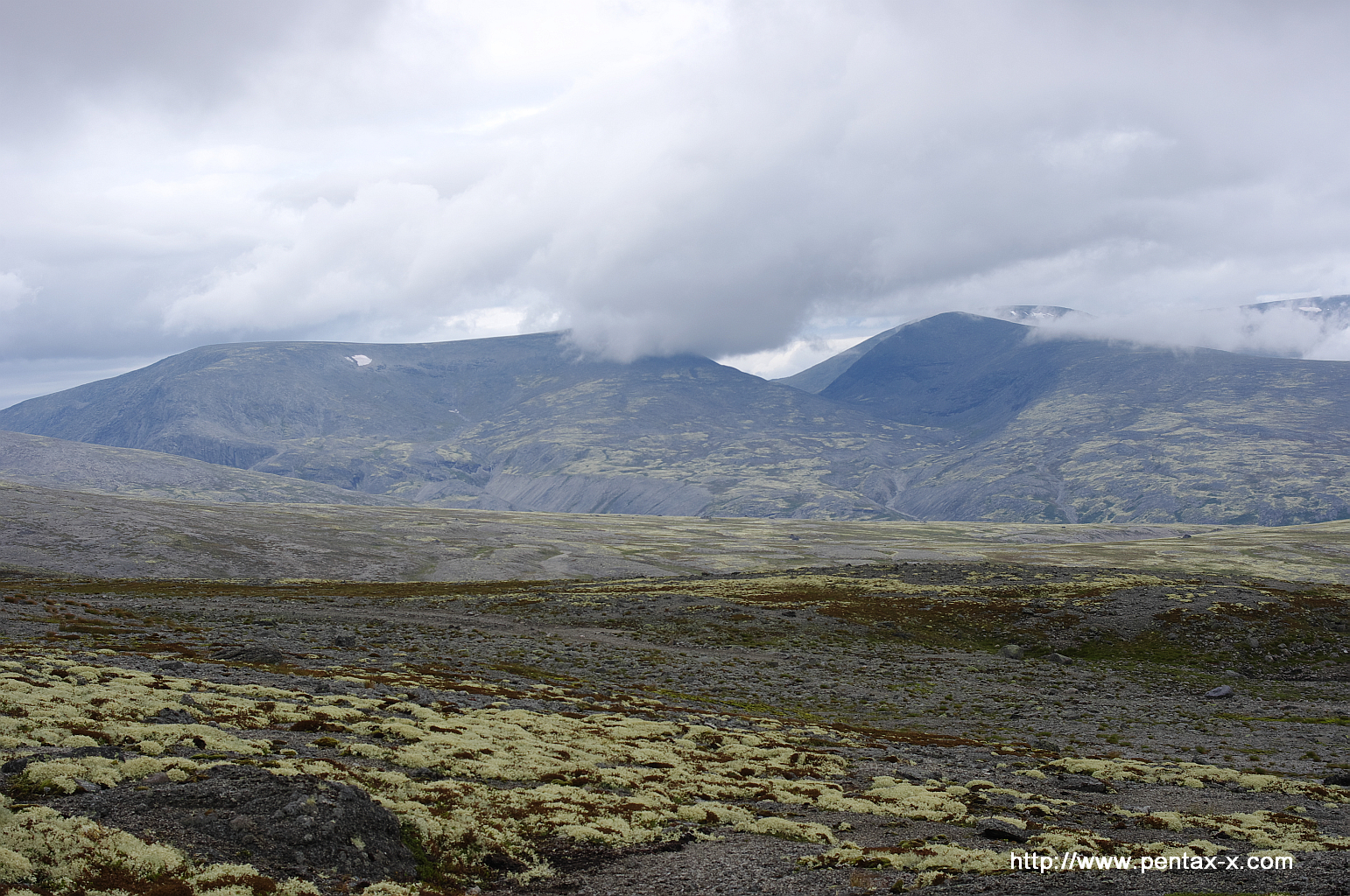 Типичный пейзаж высокогорной части Хибин