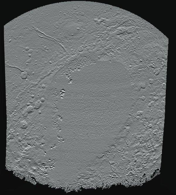 Imagen del corazón hundido de Plutón