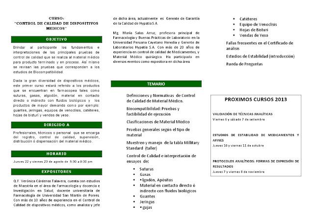 CONTROL DE CALIDAD DE DISPOSITIVOS MEDICOS