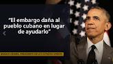 """Obama dice al Congreso que """"es hora"""" de levantar el embargo contra Cuba Barack Obama también dijo q"""