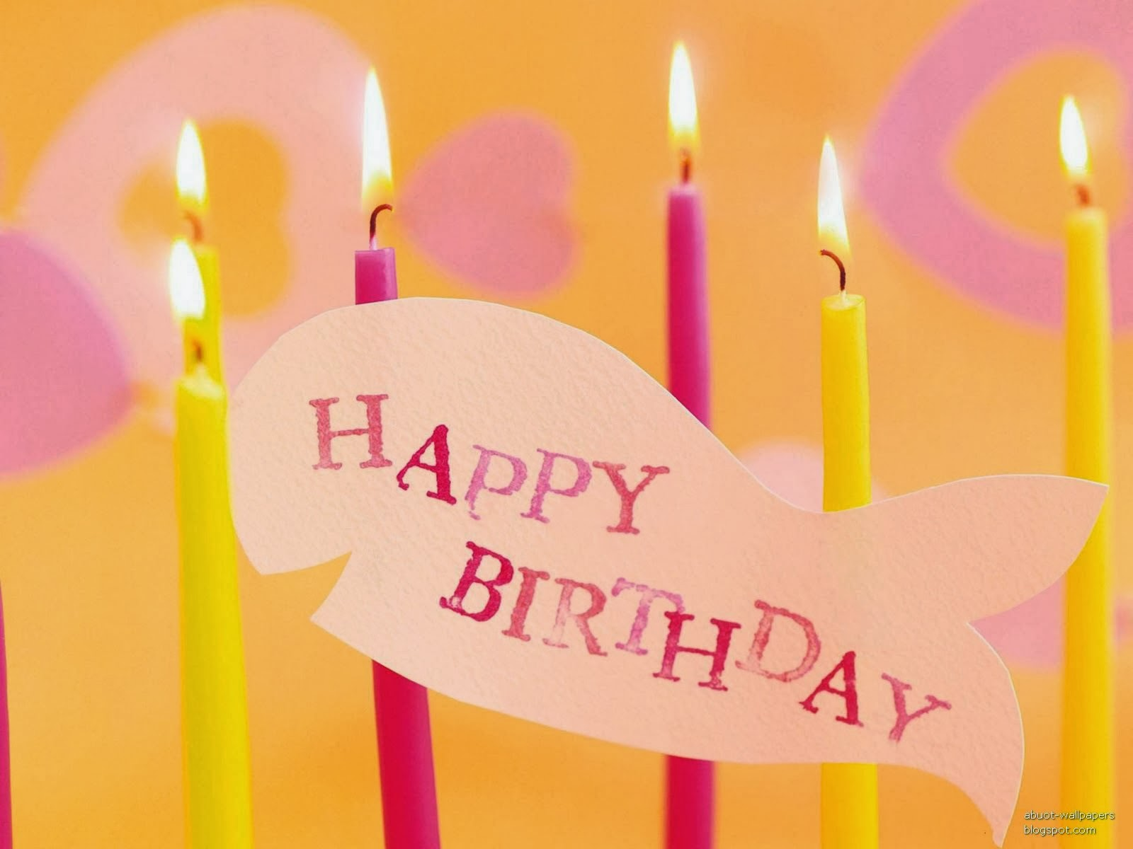 Happy birthday candles amazing pink and yellow color combination birthday wishes sms cards greetings quotes messages for you to wish you love fiance fiancee relation brother sister son daughter mother and kristyandbryce Gallery