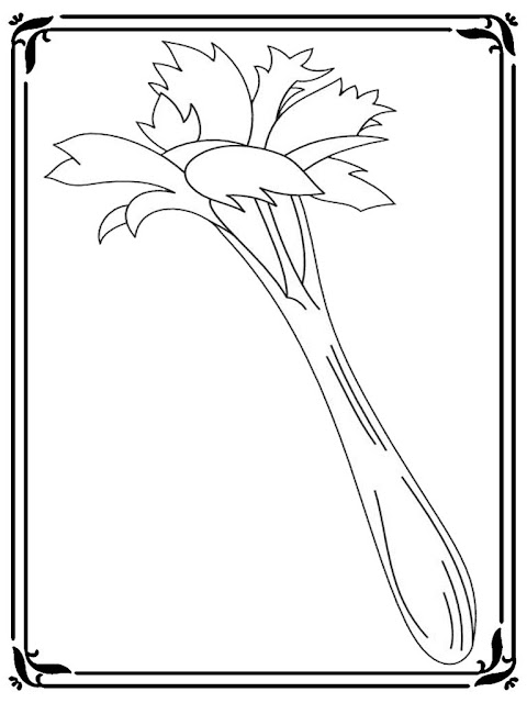 celery coloring pictures