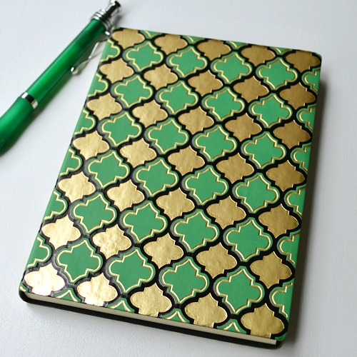 eccolo limitless green and gold journal