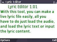 Lyric editor v1.01 s60v3