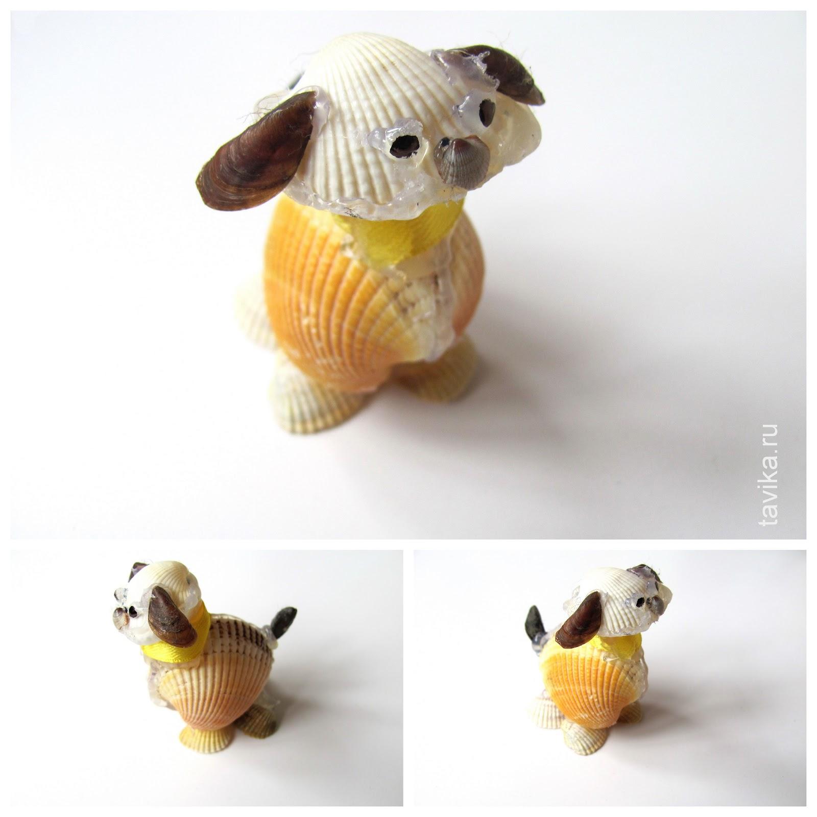 Зайца из ракушек своими руками 69