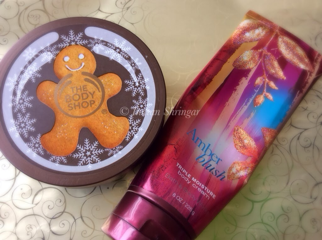 The Body Shop Body Butter and Bath and Body Works Triple Moisture Body Cream