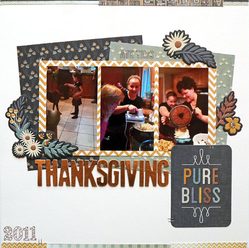 Thanksgiving Scrapbook Layout