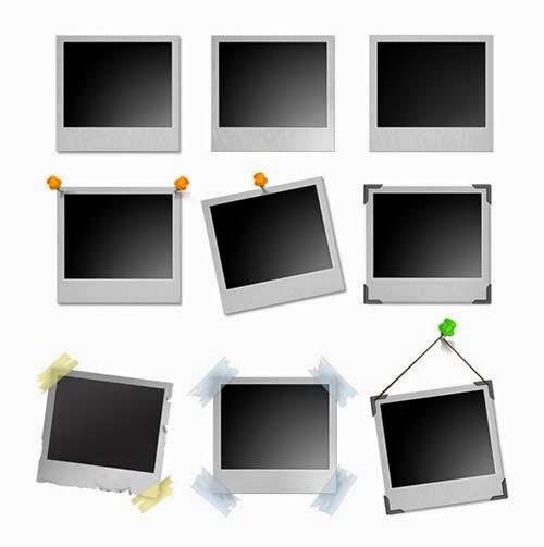 Polaroid Frames Set PSD
