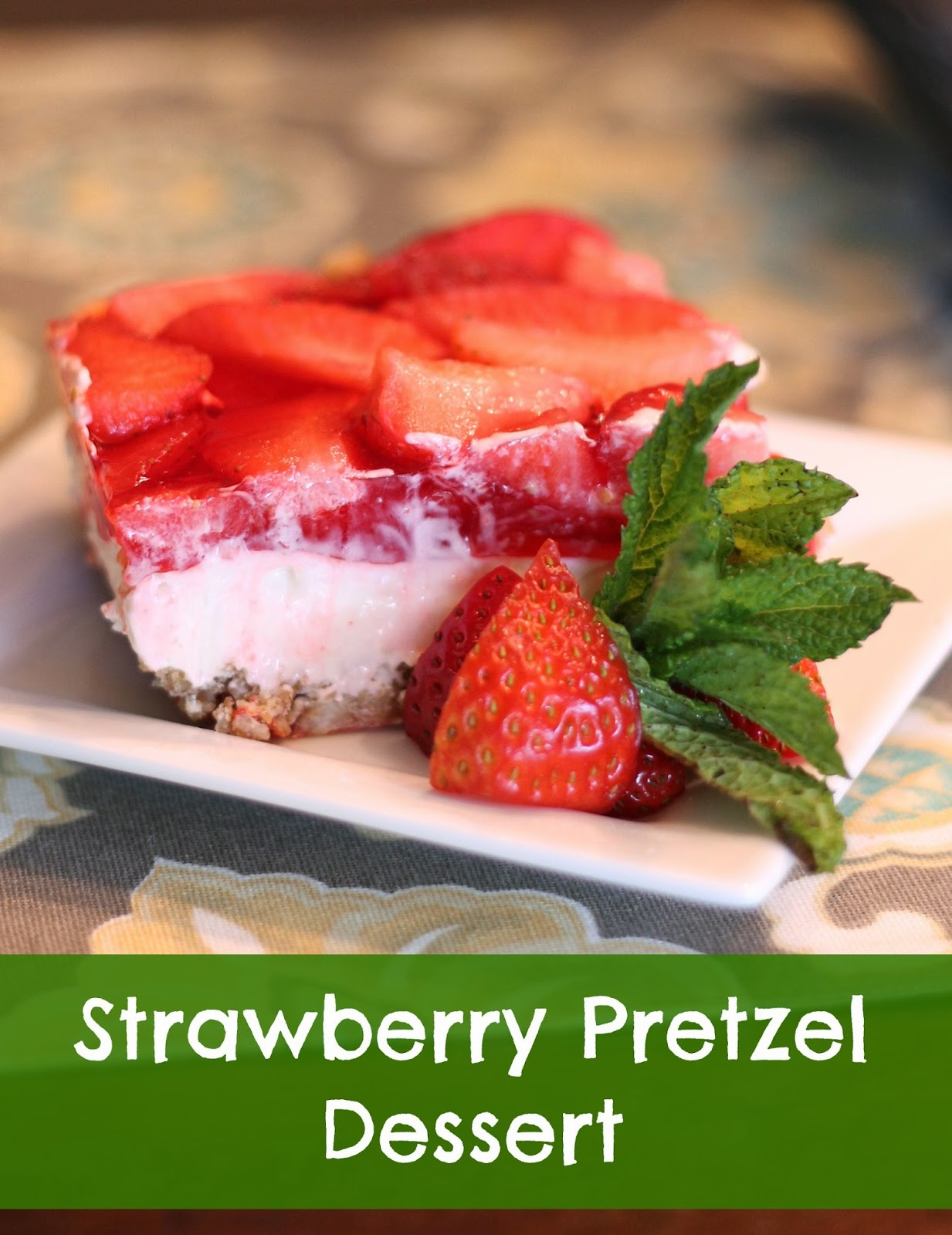 Strawberry Pretzel Salad is a delicious lower sugar, weight watchers friendly dessert.
