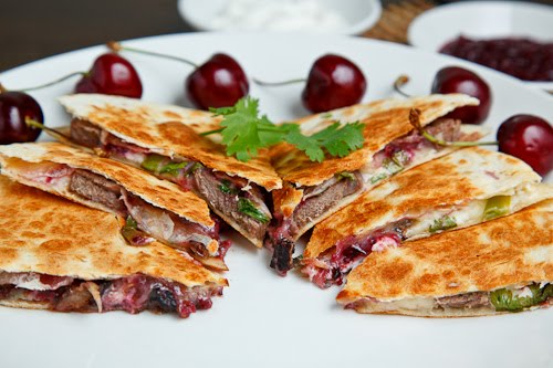 ... the World: Duck Quesadillas with Chipotle Cherry Salsa and Goat Cheese
