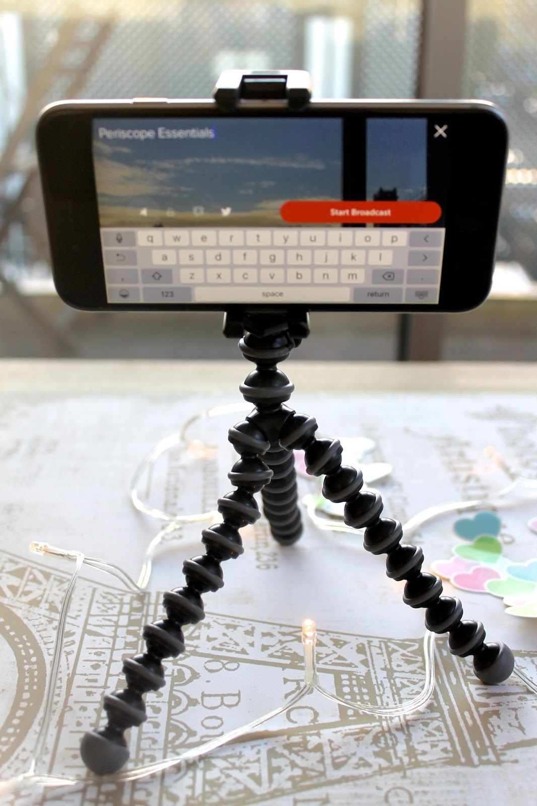 live streaming equipment periscope mobile tripod