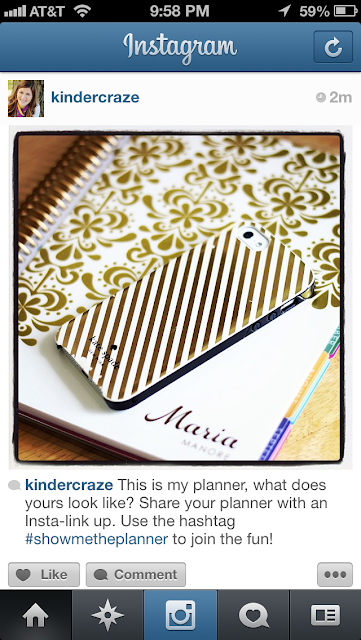 planner link up on Instagram