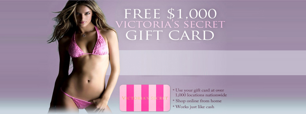 $1000 FREE Victoria Secret Gift Card - Grab Your Code NOW!