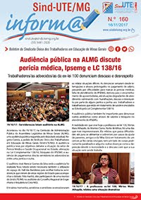 Boletim Inform@ nº 160 - Estadual