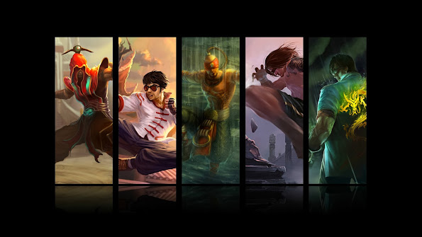 lee sin all skin splash league of legends hd wallpaper