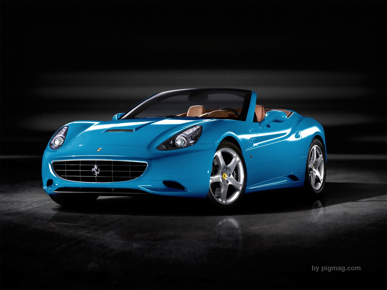 1230carswallpapers sky blue ferrari