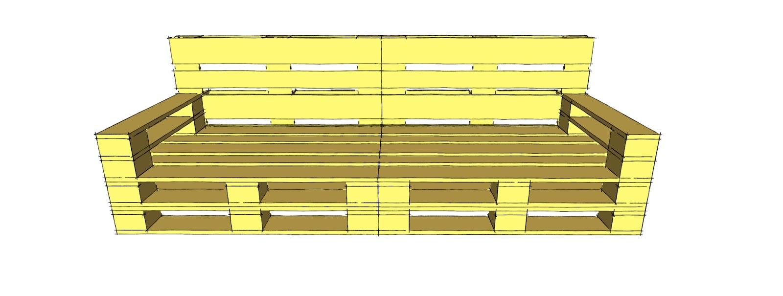 Progettare spazi verdi come costruire un divano con i for Pallet divano