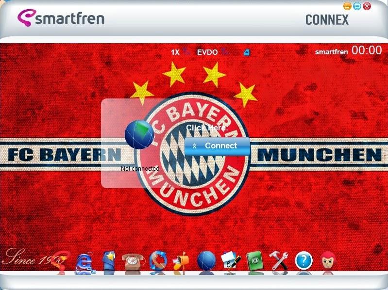 Download Skin Modem Smartfren Connex AC782 UI Edisi Bayern Munchen F.C