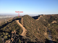 View southeast from Mount Bell toward the Griffith Park Teahouse