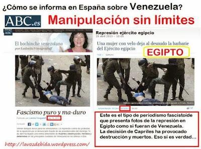 Venezuela: coup de projecteur sur les zones d´ombre médiatiques Egipto+VZA
