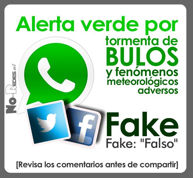 """Alerta verde por tormenta de bulos y fenómenos meteorológicos adversos. Bulos (Fake) que se abren paso en las redes sociales. Islas Canarias situación de """"Alerta roja"""""""