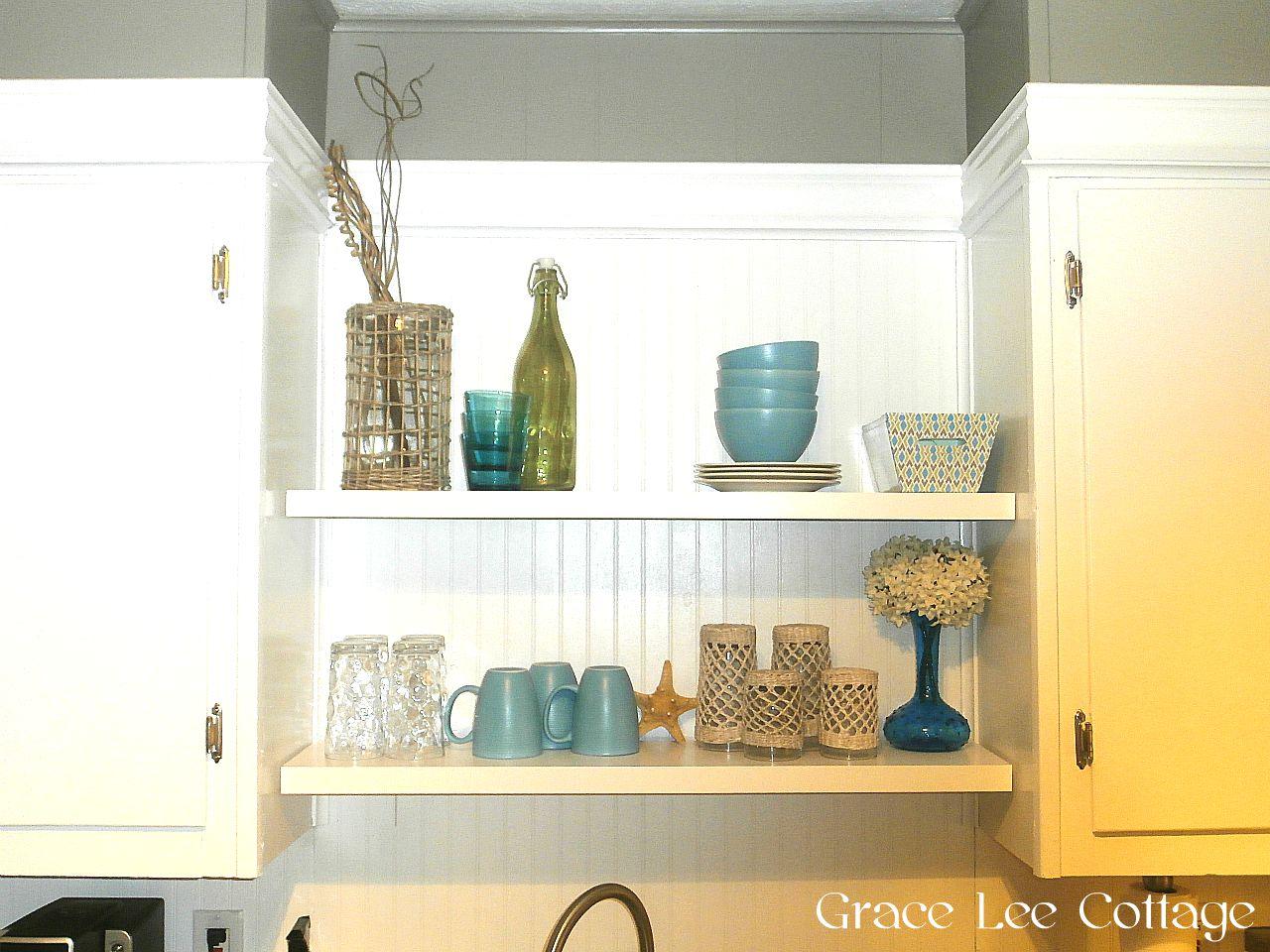 Shelf Over Kitchen Sink Between Cabinets