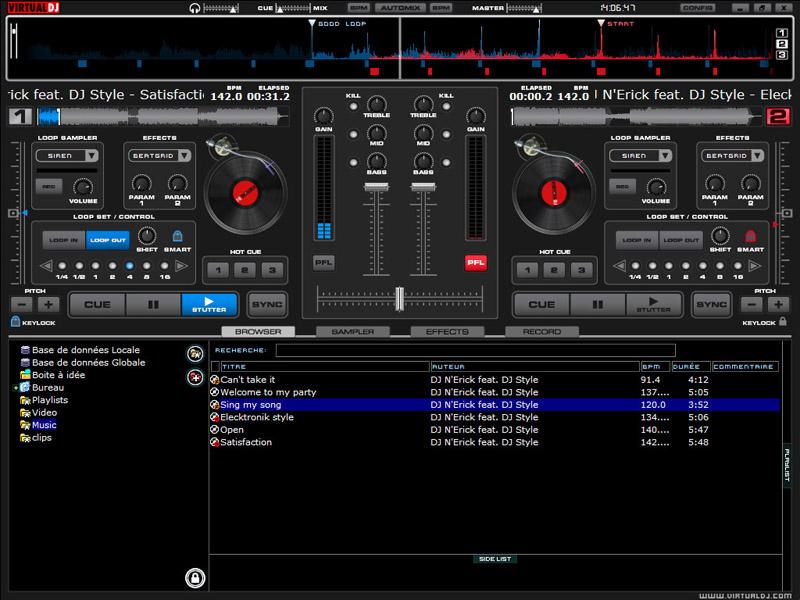 virtual dj automotix software