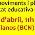 Trobada de moviments i plataformes de la comunitat educativa de Catalunya. 6 d'abril de 2013