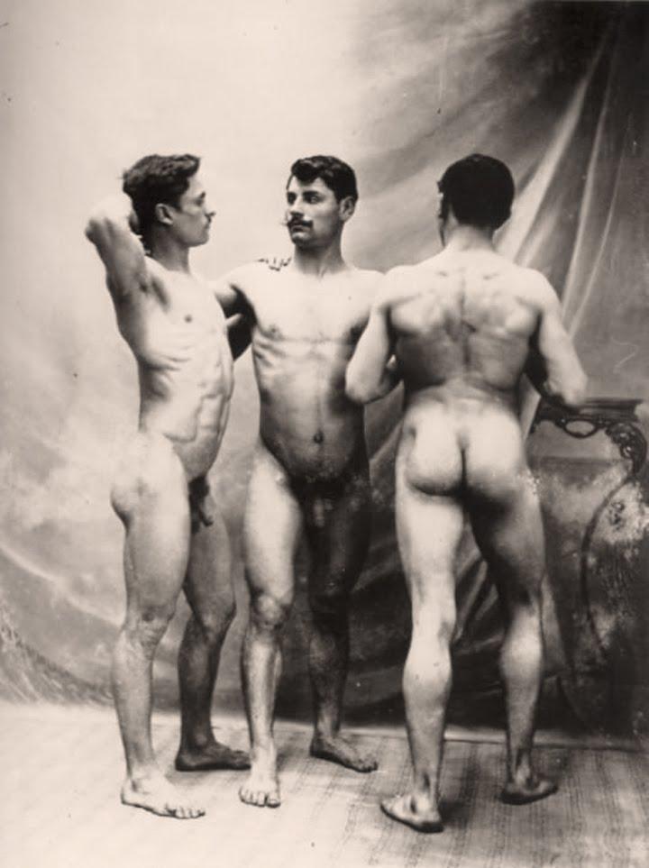 women men and Vintage naked