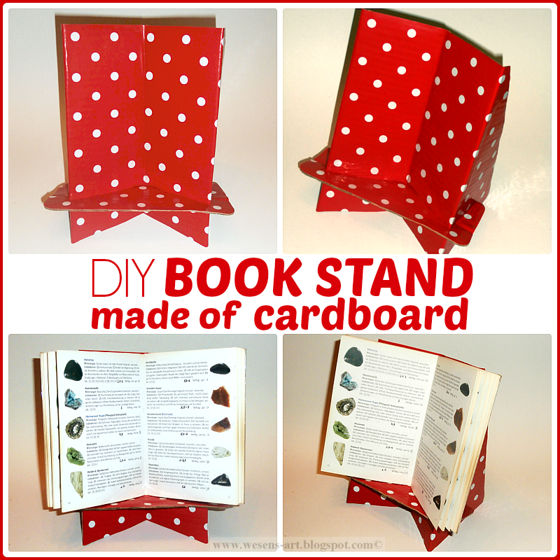 http://wesens-art.blogspot.de/2014/02/diy-book-stand-made-of-cardboard.html