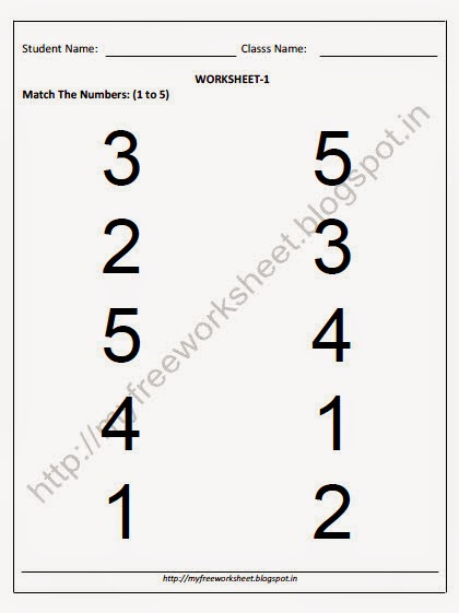 number names worksheets number matching worksheet free printable worksheets for pre school. Black Bedroom Furniture Sets. Home Design Ideas