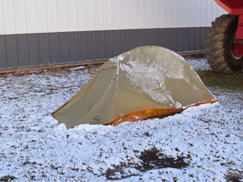 Fly Creek tent in snow