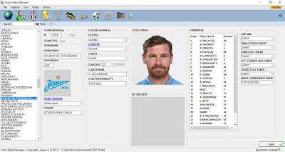 PES 2016 Team Editor Manager V2.0