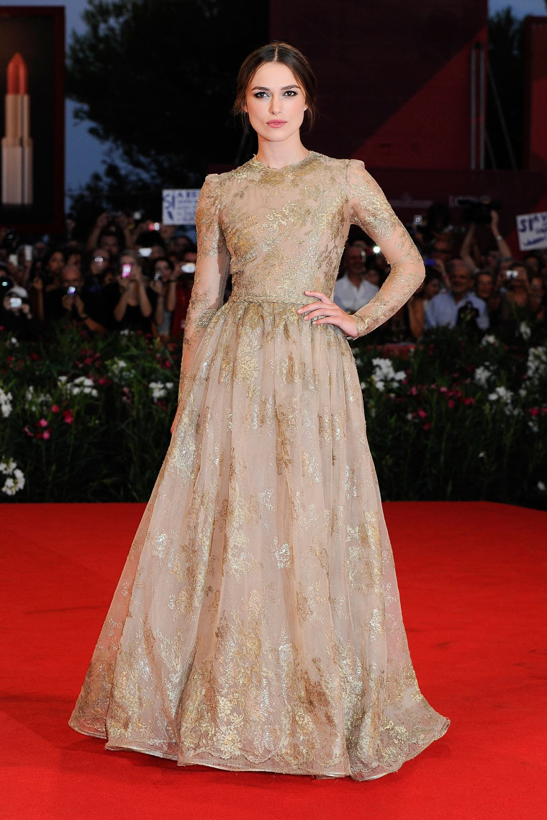 Keira Knightley Dangerous Method Premiere in Valentino