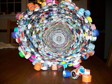 Recycled Magazine Waste Basket