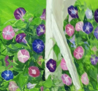 morning glories from mural
