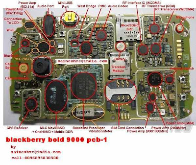 BlackBerry Bold 9000 full PCB Layout