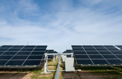 PV panels on a solar power station