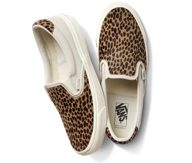 O Slip On em pele de leopardo