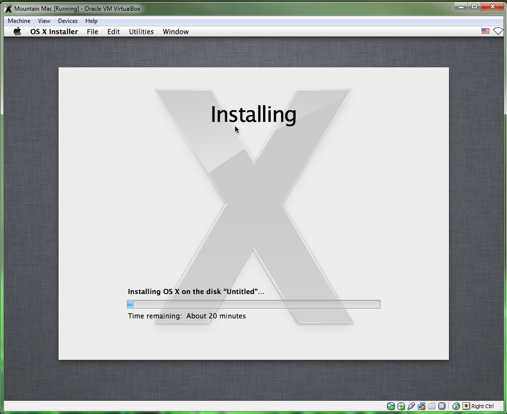 Once That's Done With, Mac Osx Will Install Itself This Will Take At Least  20 Minutes