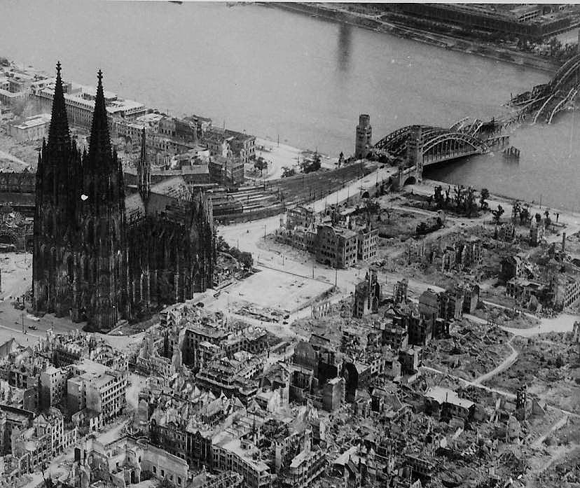 world war ii in pictures shootout at cologne cathedral