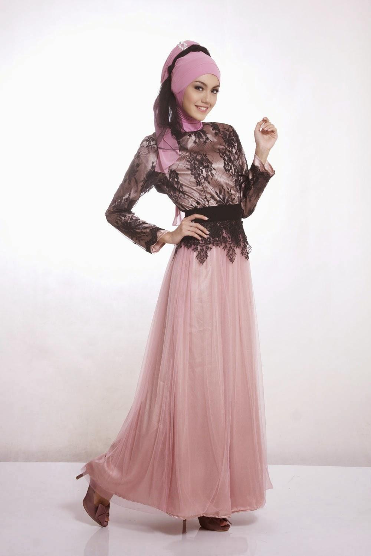 10 Gambar Contoh Model Baju Muslim Kebaya Modern Terbaik