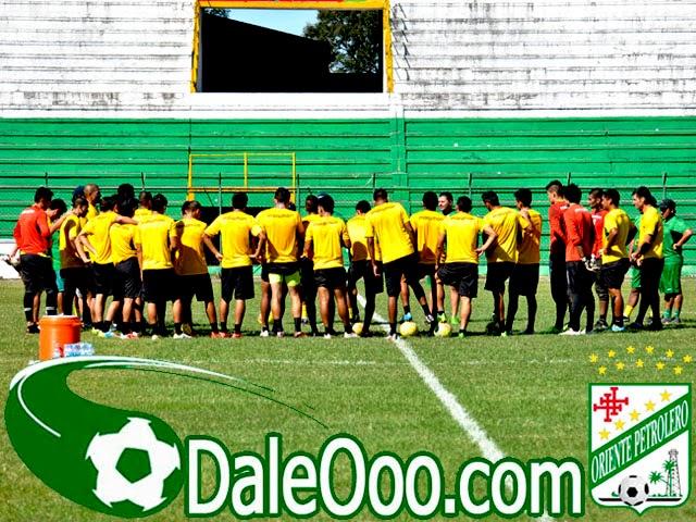 Oriente Petrolero - Entrenamiento en el Estadio Ramón Tahuichi Aguilera - DaleOoo.com sitio del Club Oriente Petrolero