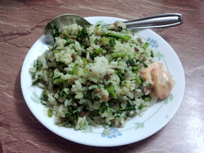 Mullangi Keerai Rice [ Radish Greens Rice ]